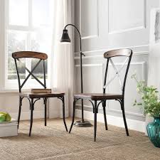 Nelson Industrial Modern Rustic Cross Back Dining Chair by iNSPIRE Q  Classic (Set of 2) - Free Shipping Today - Overstock.com - 16023681
