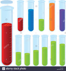 Vector Illustration Laboratory Test Tubes In Color