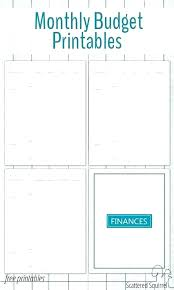 Budget Planners Free Free Monthly Bill Planner Template Meal Planning Organizer