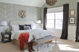 home office in master bedroom. Exellent Home Rustic Chic Master Bedroom Reveal DIY Headboard U0026 Wallpaper For Home Office In N