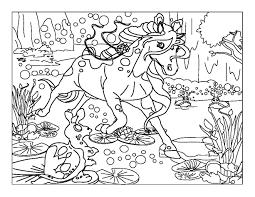 Coloriage Imprimer Personnages F Eriques Licorne Num Ro 21550