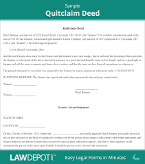 Sample Quitclaim Deed Form Quitclaim Deed Free Quitclaim Deed Form US LawDepot 1