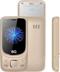 Мобильный <b>телефон BQ 2435</b> Slide, золотой