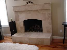 odd travertine fireplace tile s44design com