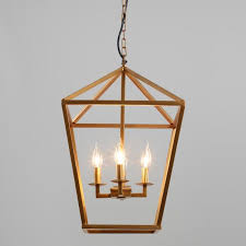 alexis angular gold 4 light chandelier