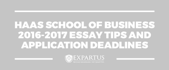 haas school of business essay tips