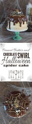 Chocolate and Peanut Butter Swirl Halloween Cake