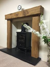 solid rustic oak beam fire surround with 54 mantle various mantles to choose