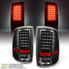 2009 2017 dodge ram 1500 2500 3500 pickup led tail lights black lamps left right 361601019893 for 148 99
