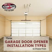 garage door guysThree Garage Door Opener Installation Types to Choose From  AAA