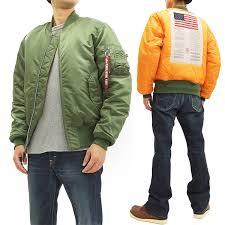 Alpha Industries Ma 1 Flight Jacket Blood Chit Mens Flying Bomber Jacket Ta0129 V Green