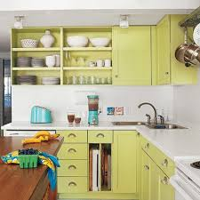Revive Tired Wood Cabinets By Painting Them A Bright Hue. For A Fresh And  Flawless Finish Like This One, Brush On A 100 Percent Acrylic Latex Primer.