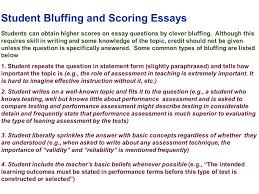 edu session writing supply items short answer and essay student bluffing and scoring essays