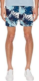 Onia Mens Charles 5 Cote D Azure Palms Swim Shorts Aegean