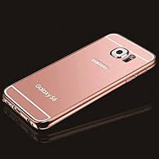 samsung galaxy s6 gold case. rose gold mirror samsung galaxy s6 case, umiko(tm) clear with metal case x