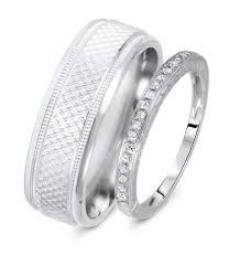 1 8 Carat T W Rounds Cut Diamond His And Hers Wedding Band Set