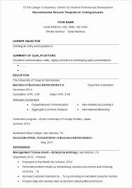 Student Resumes Template Resume Example College Student New 36 Student Resume