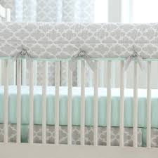 latest french gray and mint quatrefoil crib bedding carousel designs mint green and grey bedding image