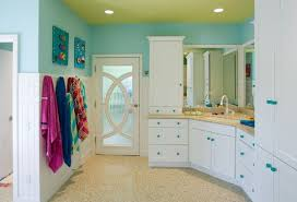 View in gallery Select patterns and colors give this eclectic kids' bathroom  an inimitable look