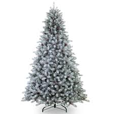 Frosted Maine Blue Spruce 7.5' Pre-Lit Artificial Christmas Tree