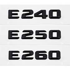 Aksesori Lencana Lambang Huruf Nomor Stiker Belakang Mobil untuk Mercedes  Benz E Class E240 E250 E260 300SE 500SEL W203 W211 W212 accessories for  mercedes stickers numbers lettersemblem badge - AliExpress