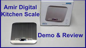 Amir Digital Kitchen Scale - Review & Demo! - YouTube