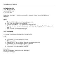game design resume   sales   designer   lewesmrsample resume  game designer resume format