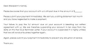 Past Due Bill Letter Past Due Invoices Letter Days Overdue Payment Reminder Example