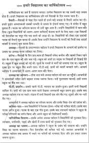 short essay on the annual function of our school in hindi