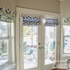 Cool DIY Roman Shades for French doors with instructions for mounting w/o  drilling window