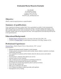 Sample Nurse Resume Graduate Registered Nurse Resume Examples New Nursing Objective 33