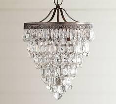 small bathroom chandelier crystal ideas: clarissa crystal drop small round chandelier pottery barn