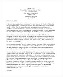 7 Sample Student Recommendation Letter Free Sample