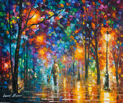 palette knife oil painting our best friend