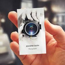 Merchandise Photographer Chic Elegant Photo Business Card Template