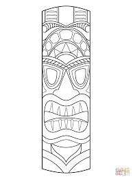 Small Picture Tiki Mask coloring page Free Printable Coloring Pages