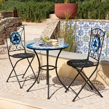 furniture tile patio dining table set diy ceramic top mosaic outdoor and chairs marble stone round