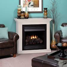 vent free gas fireplace white mantle ideas