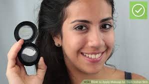 image led apply makeup for dark indian skin step 8