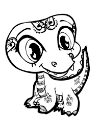 Small Picture Coloring Pages Baby Cartoon Animals Coloring Home