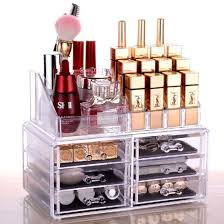 3 4 5 6 drawer clear acrylic cosmetics makeup organizer jewelry drawer with