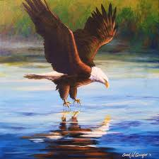 bald eagle painting bald eagle by sarah grangier