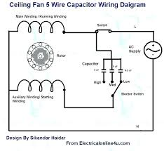 ceiling fan wire connection ceiling fan sd control switch 5 wire ceiling fan capacitor wiring diagram ceiling fan wire connection