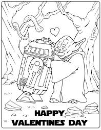 Small Picture Star Wars Valentine Coloring Page Holidays Craft and Valentine
