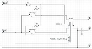 20 watt push pull cfl inverter circuit circuits diy cfl inverter circuit diagram 20 watt