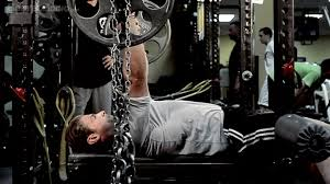 Dynamic Bench Press With Bands U0026 Chains SetUp  Elite FTSChains Bench Press