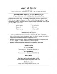 Free Cv Template Copy And Paste Resume Pdf Download