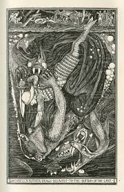 henry justice ford s ilration of beowulf from the book the red book of stories