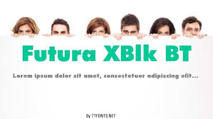 Futura bk bt book file format: Futura Xblk Bt Bold Truetype Font