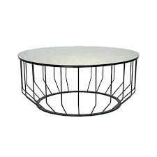 round metal coffee table with wood top bases only